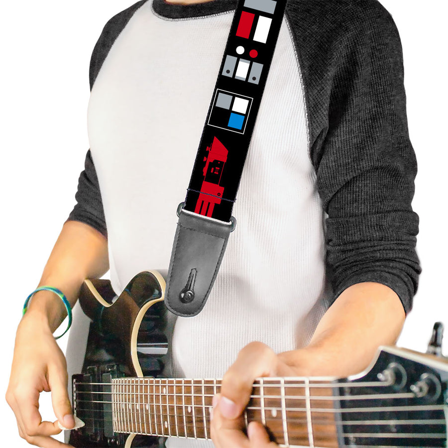 Guitar Strap - Star Wars EMPIRE Galactic Empire Elements Collage Black Blue Gray Red White