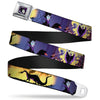 Maleficent Face Full Color Purple Fade Seatbelt Belt - Maleficent Poses Webbing