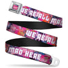 Transparent Cheshire Cat Face Full Color Seatbelt Belt - Transparent Cheshire Cat Poses WE'RE ALL MAD HERE Webbing
