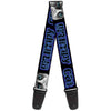 Guitar Strap - GRUMPY CAT w Face CLOSE-UP Black Blues