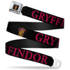 Gryffindor Crest Full Color Seatbelt Belt - Harry Potter GRYFFINDOR & Crest Black/Red Webbing