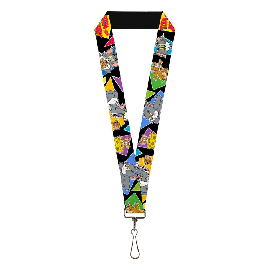 "Lanyard - 1.0"" - TOM & JERRY Poses Black Multi Color"
