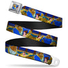 Beast & Belle Ball Scene Glow Full Color Seatbelt Belt - Beast & Belle Ball Scene Poses Webbing