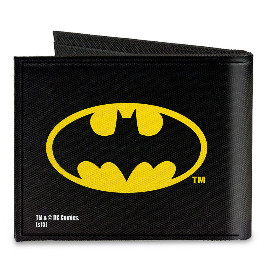 Canvas Bi-Fold Wallet - Batman Black Yellow