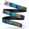 Nemo Smiling Full Color Seatbelt Belt - Nemo & Dory Poses Webbing