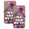 Hinged Wallet - WE CAN DO IT! FARM WORKERS Female Farm Worker Pinks White