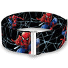 2016 SPIDER-MAN Cinch Waist Belt - Spider-Man 3-Shooting Web Poses Webs Black Grays