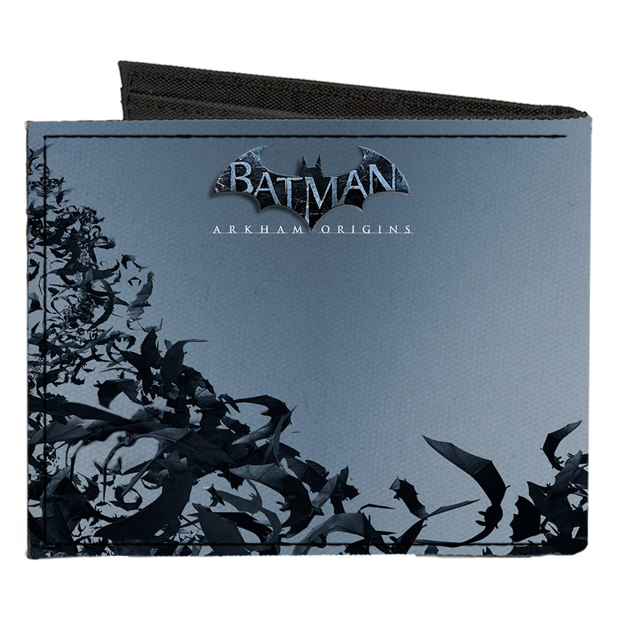Canvas Bi-Fold Wallet - Joker Face Bats + BATMAN ARKHAM ORIGINS