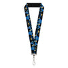 "Lanyard - 1.0"" - Aladdin 2019 Genie Poses PHENOMENAL COSMIC POWERS Black Blues Gold"