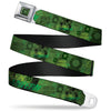 Green Lantern Logo Weathered Full Color Greens Seatbelt Belt - GREEN LANTERN/Logo Collage Weathered Greens Webbing