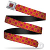 Gryffindor Crest Full Color Red Seatbelt Belt - Harry Potter Gryffindor Crest Plaid Reds/Gold Webbing