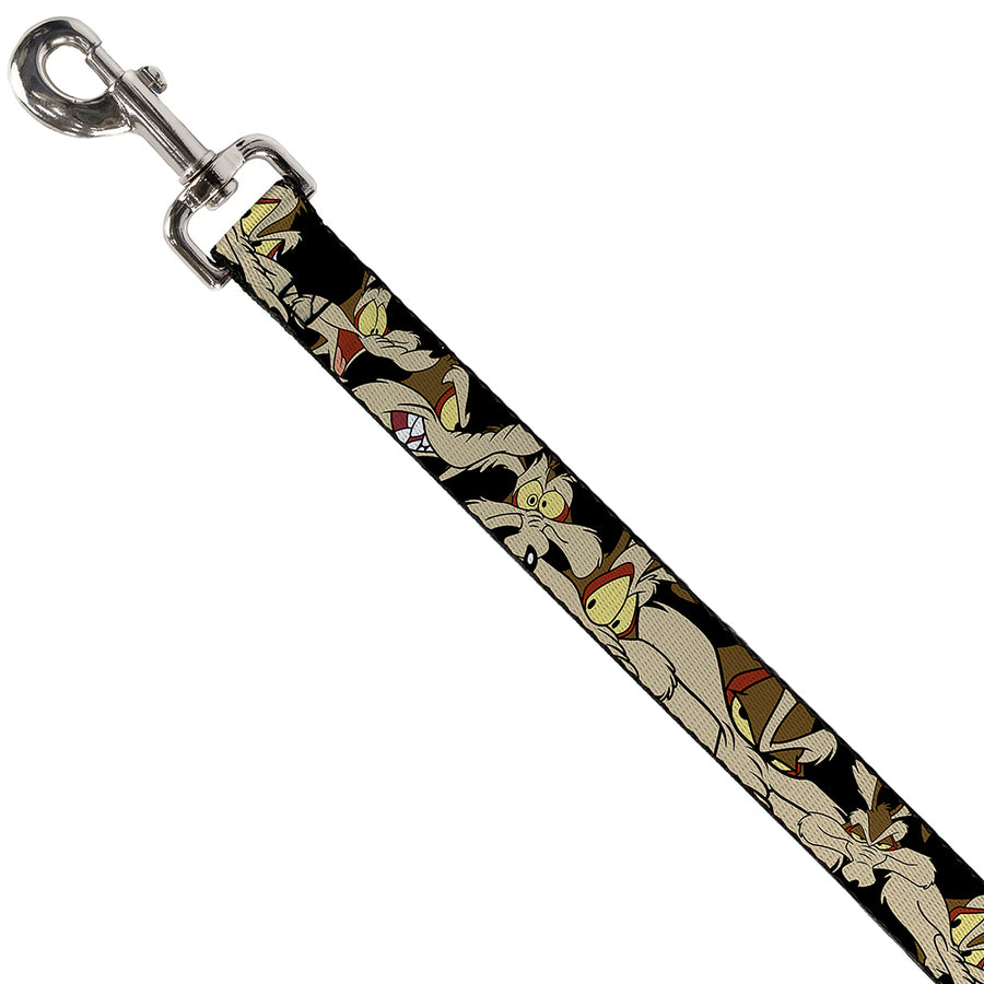 Dog Leash - Wile E. Coyote Expressions Black
