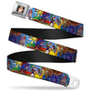 Belle CLOSE-UP Full Color Seatbelt Belt - Beauty & the Beast Stained Glass Scenes Webbing