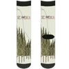 Sock Pair - Polyester - SEE AMERICA-YOSEMITE NATIONAL PARK Fishing Bear Scene2