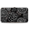 Hinged Wallet - Supernatural Devil's Trap Pentagrams Grays Black White