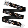 Grumpy Cat Face Full Color Black Seatbelt Belt - Grumpy Cat Moons Scattered Webbing