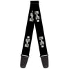 Guitar Strap - H3 Black Silver Logo REPEAT