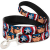 Dog Leash - Captain America Face Turns/Shield CLOSE-UP