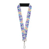"Lanyard - 1.0"" - Frozen Elsa Poses Olaf Pose Cameos Blues Purples"