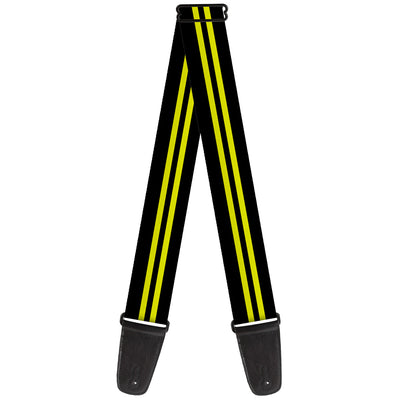 Guitar Strap - Stripe Black Yellow