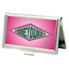 Business Card Holder - SMALL - Harry Potter HONEYDUKES Logo FCG Pinks Greens