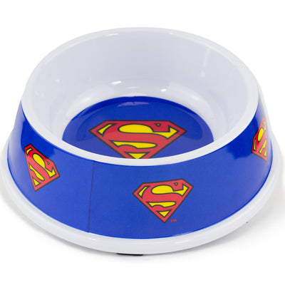 Single Melamine Pet Bowl - 7.5 (16oz) - Superman Shield Blue