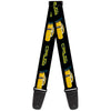 Guitar Strap - Cars 3 CRUZ Car Profile Black Blue Yellow