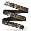 Harley Quinn Bombshell Pin-Up Face Full Color Seatbelt Belt - Harley Quinn Aviation Pin-Up Pose/GOTHAM OR BUST Webbing