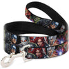 Dog Leash - 7-Vivid Avengers Action Poses