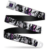 Jessica Jones JL Icon Full Color Black/Purple Seatbelt Belt - JESSICA JONES 6-Poses/Luke Cage Grays/Black/Purples Webbing