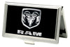Business Card Holder - SMALL - Ram Logo FCG Black Silver