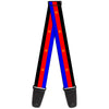 Guitar Strap - Flag Polyamorous Pi Symbol Blue Red Black Yellow
