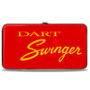 Hinged Wallet - Dodge DART SWINGER Script Reds Yellow-Fade