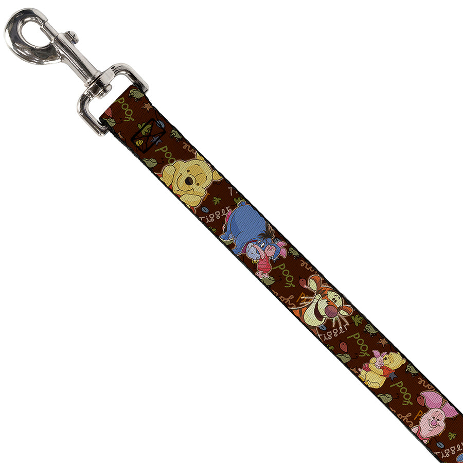 Dog Leash - Winnie the Pooh Character Poses
