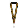 "Lanyard - 1.0"" - Scooby Doo Stacked CLOSE-UP Black"