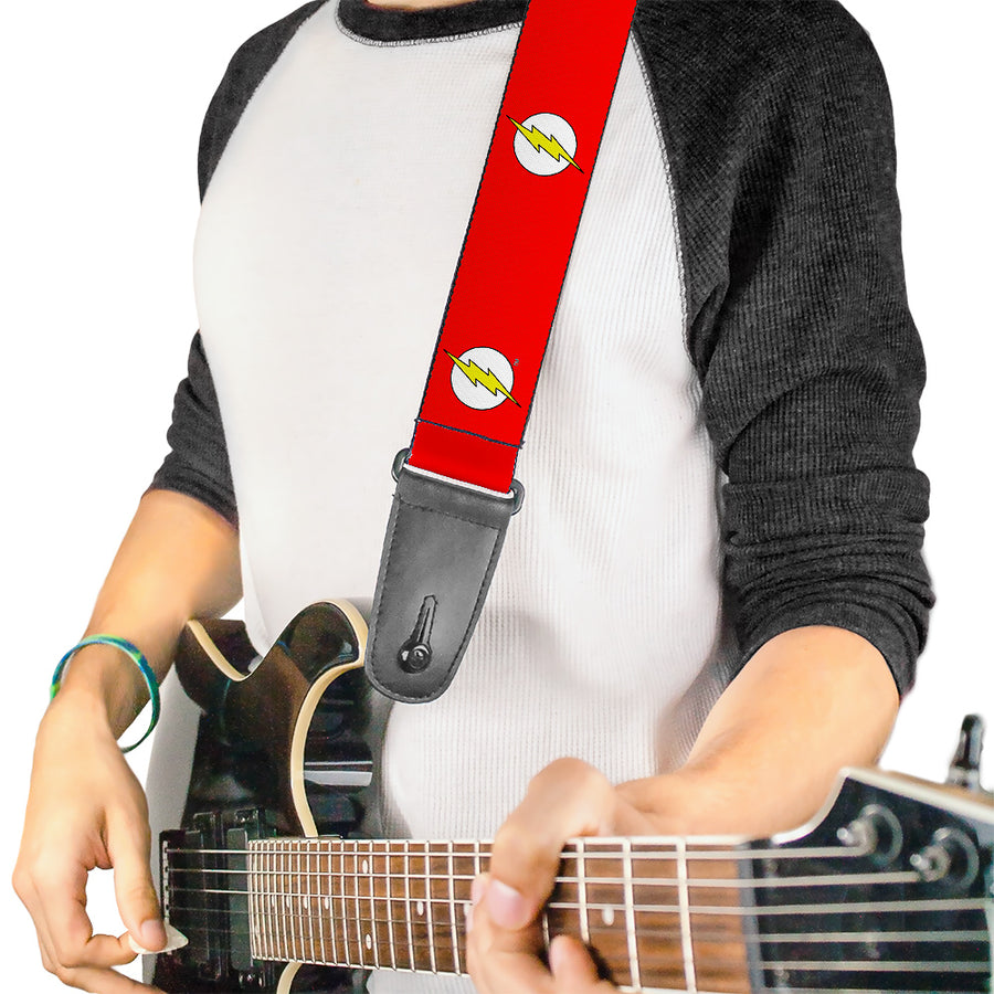 Guitar Strap - Flash Logo Red White Yellow