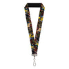 "MARVEL X-MEN Lanyard - 1.0"" - Wolverine 3-Action Poses Comic Scene Blocks"