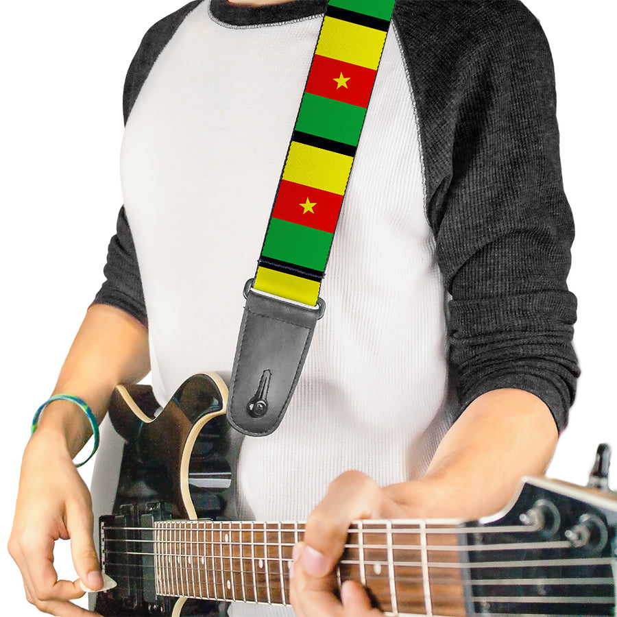 Guitar Strap - Cameroon Flags