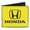 Bi-Fold Wallet - Honda Logo Yellow Black