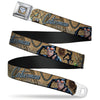 Catwoman Diamond Full Color Tans Seatbelt Belt - CATWOMAN-NINE LIVES OF A FELINE FATALE Pose2/Jewelry/Black Cat Tans Webbing