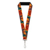 "Lanyard - 1.0"" - Hades Fiery Face Expressions Oranges Blues"