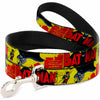 Dog Leash - Classic BATMAN Issue #1 Robin & Batman Cover Pose Yellow/Red
