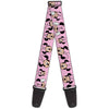 Guitar Strap - Minnie Mouse Expressions Polka Dot Pink White