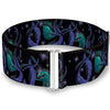 Cinch Waist Belt - Flotsam & Jetsam Swimming in Ursula's Tentacles Black Purples