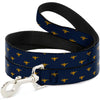Dog Leash - Aladdin Genie Lamp Monogram Navy/Gold