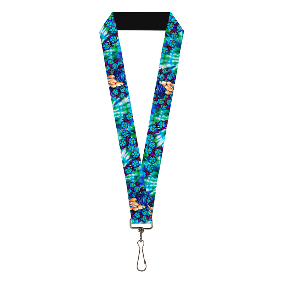 "Lanyard - 1.0"" - Tattoo Johnny-Blue Hair"