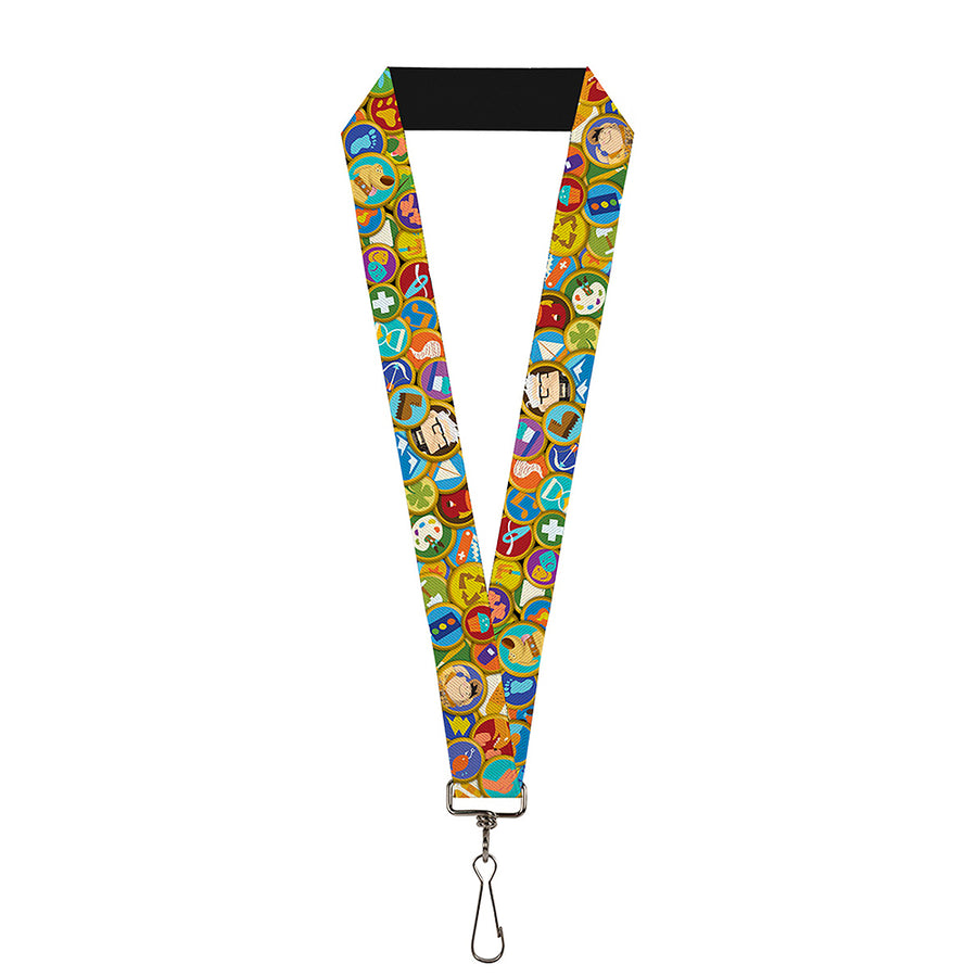 "Lanyard - 1.0"" - Stacked Wilderness Explorers Badges"