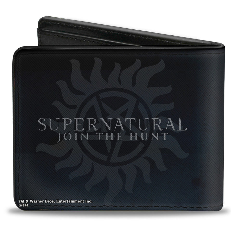 Bi-Fold Wallet - Winchester Brothers CLOSE-UP + SUPERNATURAL Logo
