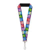 "Lanyard - 1.0"" - Inside Out 6-Character Expression Blocks Purple Multi Color"