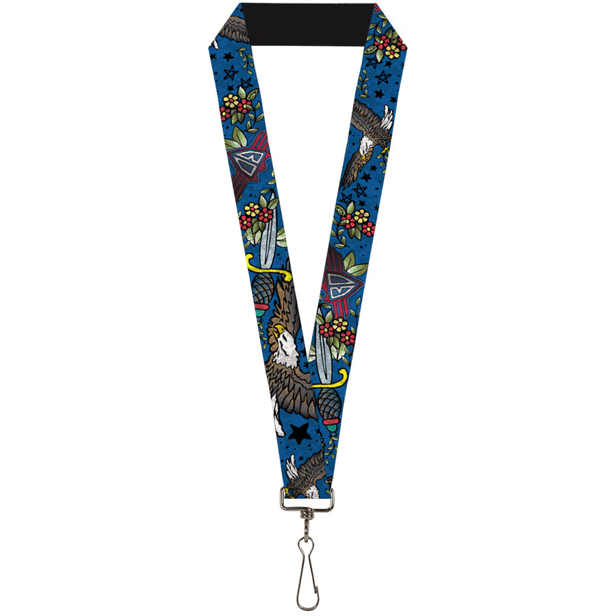 "Lanyard - 1.0"" - Truth and Justice CLOSE-UP Blue"
